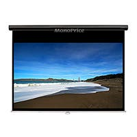 Monoprice 92in HD Slow-Retraction Manual Projection Screen 16:9