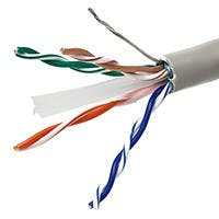 Monoprice Cat6 Ethernet Bulk Cable - Solid, 550Mhz, STP, CMG, Pure Bare Copper Wire, 24AWG, 1000ft, Gray