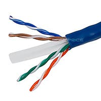 Monoprice Cat6 Ethernet Bulk Cable - Solid, 550MHz, UTP, CMR, Riser Rated, Pure Bare Copper Wire, 23AWG, 1000ft, Blue