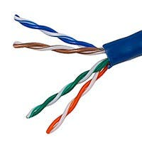 Monoprice Cat5e Ethernet Bulk Cable - Solid, 350Mhz, UTP, CMR, Riser Rated, Pure Bare Copper Wire, 24AWG, 1000ft, Blue