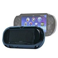 Monoprice PlayStation Vita Brushed Aluminum Clamshell Protective Case - Black