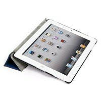 Ergo Stand and Cover for iPad® 3 and iPad 4 - Blue