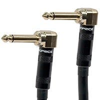 Monoprice 1.5ft Premier Series 1/4-inch (TS) Right Angle Male to Right Angle Male 16AWG Audio Cable (Gold Plated)