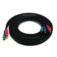 Monoprice 12ft 22AWG 3-RCA Component Video Coaxial Cable (RG-59/U) - Black