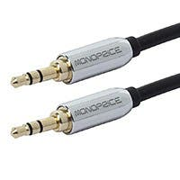 Monoprice 3ft Designed for Mobile 3.5mm Stereo Male to 3.5mm Stereo Male (Gold Plated) - Black