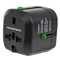 Monoprice Compact Cube Universal Travel Adapter - Black