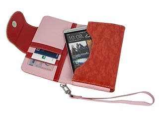 Product Image for Leather Clutch for iPhone®, Samsung Galaxy S®, and most Mobile Phones - Pink