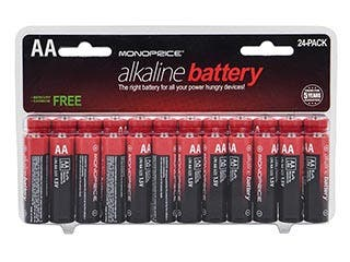 Product Image for Monoprice AA Alkaline Battery, 24-Pack