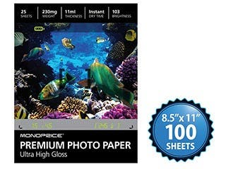 Product Image for MPI 8.5x11 Premium Photo Paper- Ultra High Gloss (100 sheets)