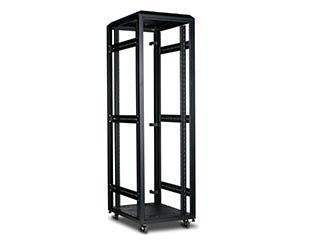 Product Image for Monoprice 42U 4-Post Open Frame Rack - GSA Approved