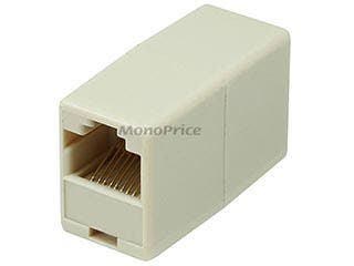 Product Image for Monoprice RJ45 8P8C Straight Inline Coupler - Beige