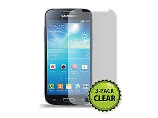 Product Image for Screen Protector (3-Pack) w/ Cleaning Cloth for Samsung S®4 Mini - Transparent Finish