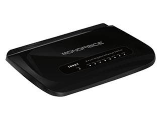 Product Image for Monoprice 8 Port 10/100/1000 Mbps Desktop Gigabit Ethernet Switch with Support for Jumbo Frames