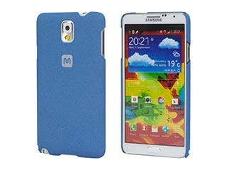 Product Image for PC Case with Soft Sand Finish for Galaxy Note® 3- Azurite Blue