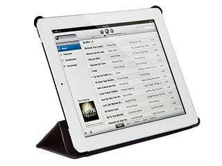 Product Image for Synthetic Leather Stand/Cover with Magnetic Latch for iPad Air™ - Black