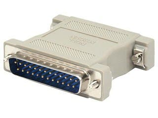 Product Image for DB25, M/M, Null Modem Adapter