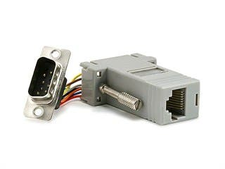 Product Image for DB9M/RJ-45,Modular Adapter