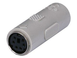 Product Image for PS2 coupler - Mini DIN6 F/F, Molded Gender Changers