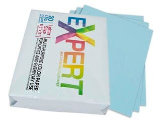 "Product Image for 8.5"" x 11"" Blue Colored Copy Paper, 75 GSM, 20-Lbs Ream of 500-Sheets"