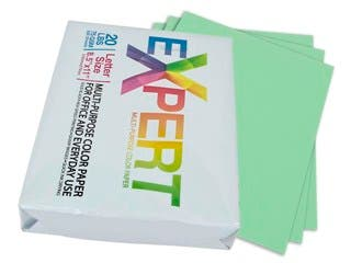 "Product Image for 8.5"" x 11"" Green Colored Copy Paper, 75 GSM, 20-Lbs Ream of 500-Sheets"