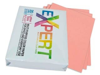"Product Image for 8.5"" x 11"" Salmon Colored Copy Paper, 75 GSM, 20-Lbs Ream of 500-Sheets"