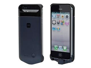 Product Image for Slim Backup Battery Case for iPhone® 5/5s/SE MFi Certified (2200mAh, 1A) - Cosmic Black