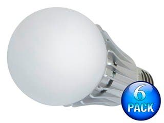Product Image for 270° 8-Watt (40W Equivalent) A 19 LED Bulb, 630 Lumens, Warm/ Soft (2900K) - Non-Dimmable (6-Pack)