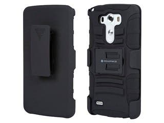 Product Image for Belt Clip Armor Case w/ Stand for LG® G3 - Black