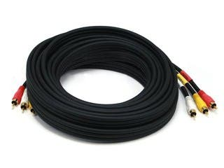 Product Image for RCA Coaxial Composite Video and Stereo Audio Cable, 25ft