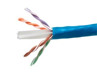 Product Image for 1000FT Cat6a 650MHz UTP Solid, Riser Rated (CMR), 23AWG Bulk Ethernet Bare Copper Cable, 10G, Blue - No Logo