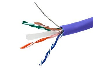 Product Image for 1000FT Cat6a 650MHz FTP Solid, Riser Rated (CMR), 23AWG Bulk Ethernet Bare Copper Cable, 10G - Blue - No Logo