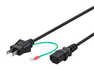 Product Image for 18AWG Japan Power Cord Cable w/Ground - Black