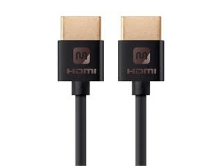 Product Image for Monoprice Ultra Slim Series High Speed HDMI Cable - 4K @ 24Hz, 10.2Gbps, 36AWG, YUV 4:2:0, 6ft, Black