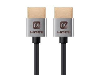 Product Image for Monoprice Ultra Slim Series High Speed HDMI Cable - 4K @ 24Hz, 10.2Gbps, 36AWG, YUV 4:2:0, 6ft, Silver