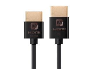Product Image for Monoprice Ultra Slim Series Active High Speed HDMI Cable - 4K @ 60Hz, 18Gbps, 36AWG, YUV 4:2:0, 3ft, Black