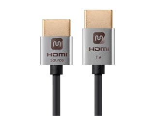 Ultra Slim Series Active High Speed HDMI Cable - 4K @ 60Hz, 18Gbps, 36AWG, YUV 4:2:0, 3ft, Silver