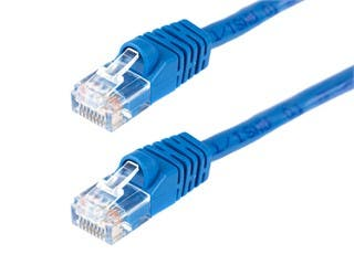 Product Image for Cat5e 24AWG UTP Ethernet Network Patch Cable, 14ft Blue