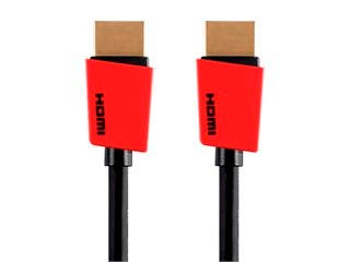 Product Image for Monoprice Essentials Palette Series High Speed HDMI Cable - 4K @ 60Hz, 10.2Gbps, 32AWG, 6ft, Red