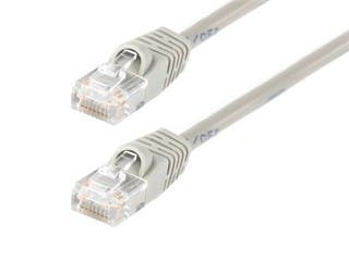 Product Image for Cat5e Ethernet Patch Cable - Snagless RJ45, Stranded, 350Mhz, UTP, Pure Bare Copper Wire, 24AWG, 14ft, Gray
