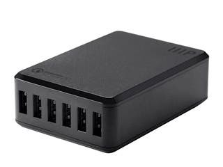 Product Image for Monoprice Obsidian Series 6-Port 8A USB Smart Charger with Qualcomm Quick Charge 2.0 Technology