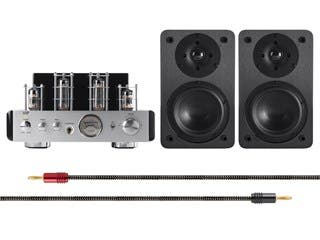 Product Image for 25 Watt Stereo Hybrid Tube Amplifier with Bluetooth® and 5-Inch Speakers Bundle