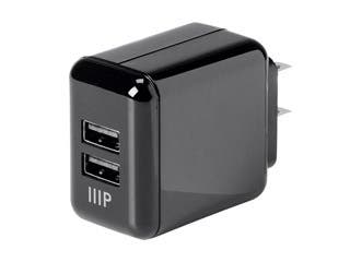 Product Image for 2-Port USB Wall Charger 4.2A for Apple and Android, Black