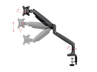 Product Image for Adjustable Gas Spring Desk Mount for 15~34 in Monitors