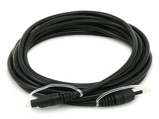 Product Image for S/PDIF Digital Optical Audio Cable, Toslink to Mini Toslink, 12ft