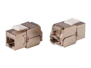 Product Image for Cat6A RJ-45 180-Degree Shielded Die Cast Keystone, Slim Type