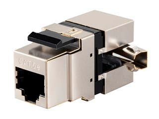 Product Image for Monoprice Cat5e RJ-45 Fully Shielded 180-Degree Punch Down Keystone Jack