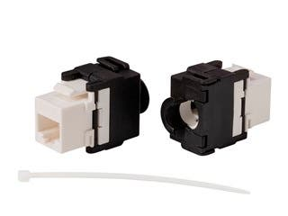 Product Image for Monoprice Cat6A RJ45 Toolless Snap Back 180-Degree Keystone