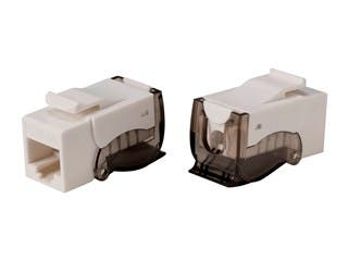 Product Image for Monoprice Cat6A RJ45 Toolless Push Lever 90-Degree Keystone