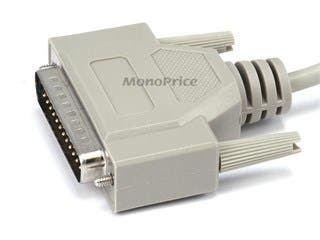 Product Image for Monoprice 25ft DB25 M/F Molded Cable