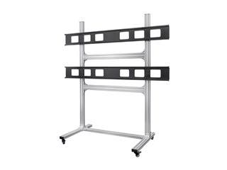 2x2 Video Wall Display Cart with Micro Adjustment Arms
